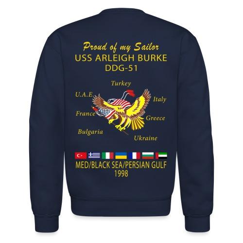 USS ARLEIGH BURKE 1998 CRUISE SWEATSHIRT - FAMILY - Crewneck Sweatshirt