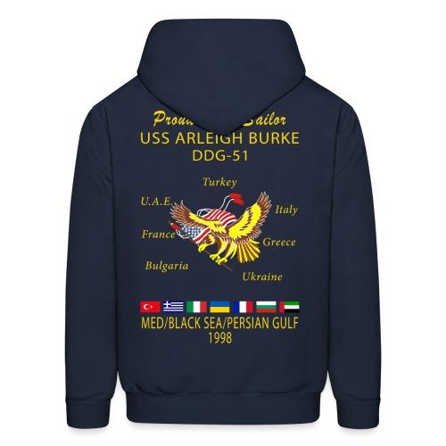 USS ARLEIGH BURKE 1998 CRUISE HOODIE - FAMILY - Men's Hoodie