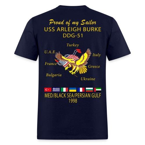 USS ARLEIGH BURKE 1998 CRUISE SHIRT - FAMILY - Men's T-Shirt