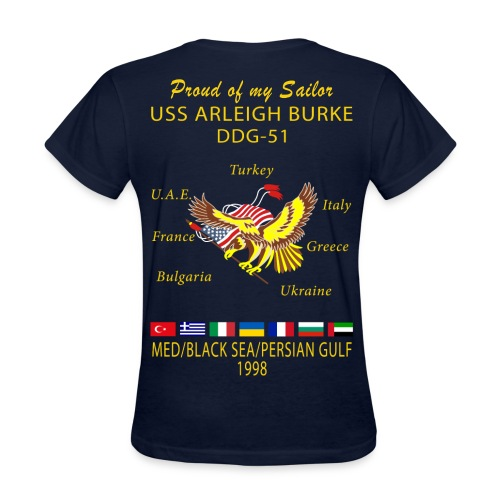 USS ARLEIGH BURKE 1998 WOMENS CRUISE SHIRT - FAMILY - Women's T-Shirt