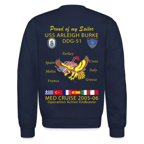 USS ARLEIGH BURKE 2005-06 CRUISE SWEATSHIRT - FAMILY - Crewneck Sweatshirt