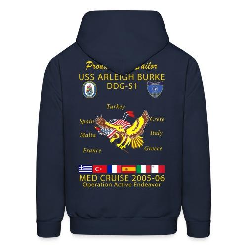 USS ARLEIGH BURKE 2005-06 CRUISE HOODIE - FAMILY - Men's Hoodie