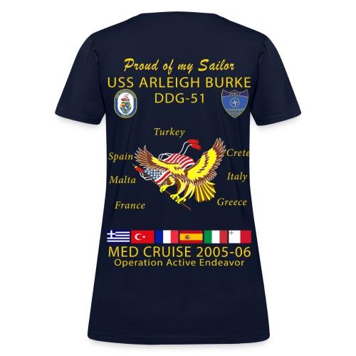 USS ARLEIGH BURKE 2005-06 WOMENS CRUISE SHIRT - FAMILY - Women's T-Shirt