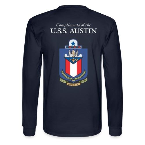 USS Austin LPD 4 GOT FREEDOM LONG SLEEVE SHIRT  - Men's Long Sleeve T-Shirt