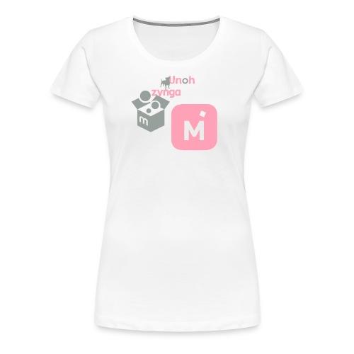 Pink Logo foe Women supportor - Women's Premium T-Shirt