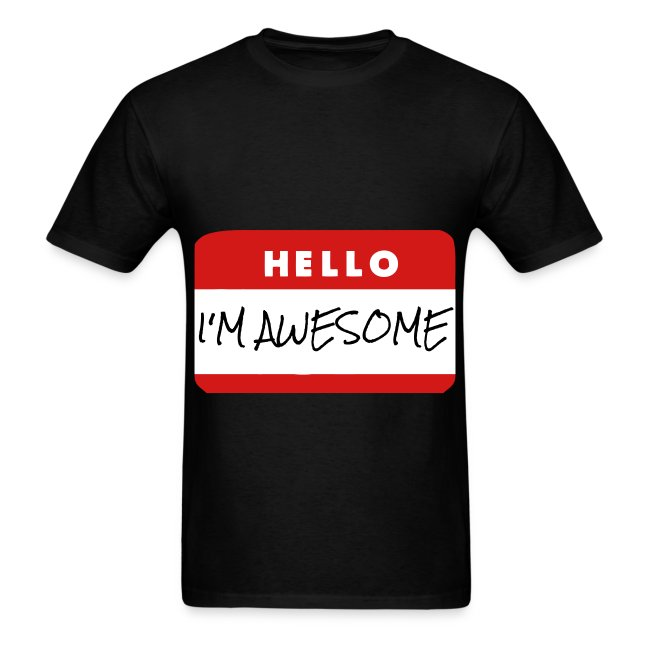 8afcd1c6b7b7 Cinnamon Nerds | Hello! Im Awesome. - Mens T-Shirt