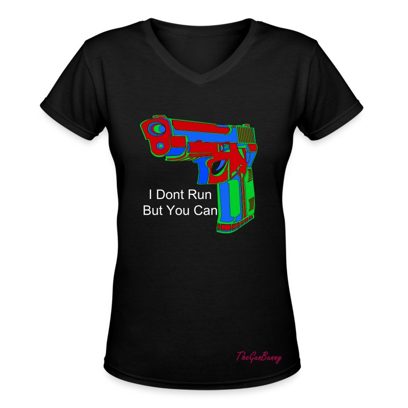 I Dont Run, But You Can - Women's V-Neck T-Shirt