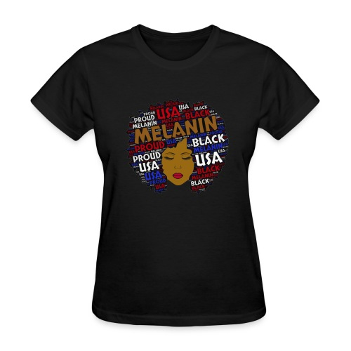 Melanin Words in Afro - Women's T-Shirt