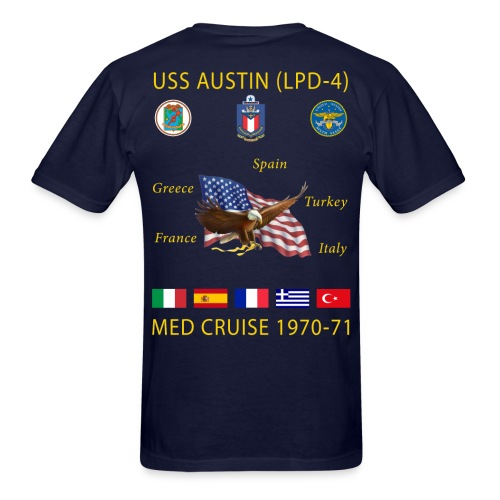 USS AUSTIN 1970-71 CRUISE SHIRT  - Men's T-Shirt
