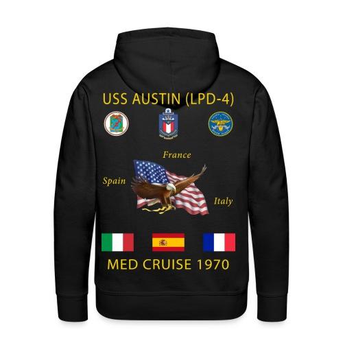 USS AUSTIN 1970 CRUISE HOODIE - Men's Premium Hoodie