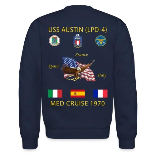 USS AUSTIN 1970 CRUISE SWEATSHIRT  - Crewneck Sweatshirt