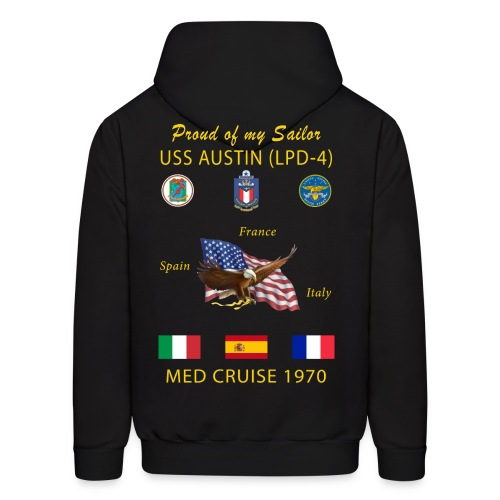 USS AUSTIN 1970 CRUISE HOODIE - FAMILY - Men's Hoodie