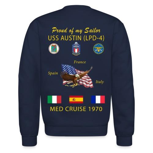 USS AUSTIN 1970 CRUISE SWEATSHIRT - FAMILY - Crewneck Sweatshirt