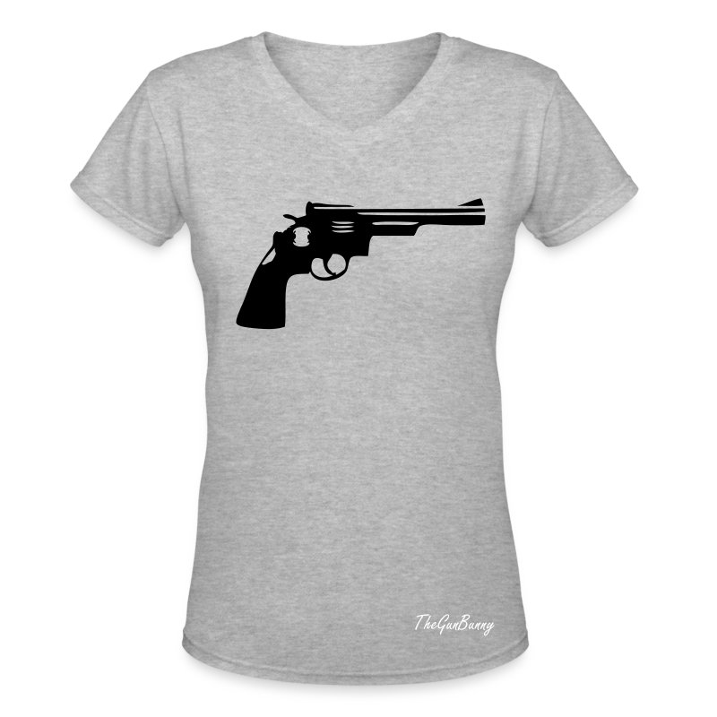 Gun turret Weapon revolver - Women's V-Neck T-Shirt