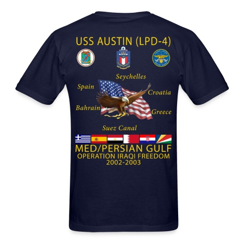 USS AUSTIN 2002-03 CRUISE SHIRT  - Men's T-Shirt