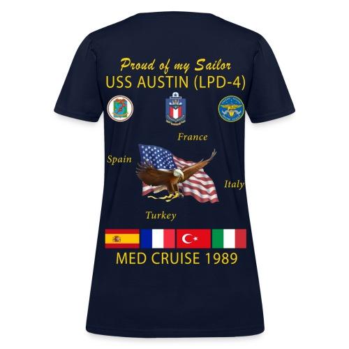 USS AUSTIN 1989 WOMENS CRUISE T-SHIRT - FAMILY - Women's T-Shirt