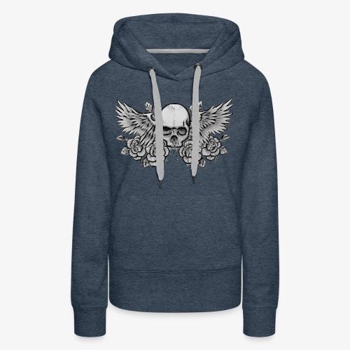 Ladies Premium Winged-Skull Hoodie - Women's Premium Hoodie