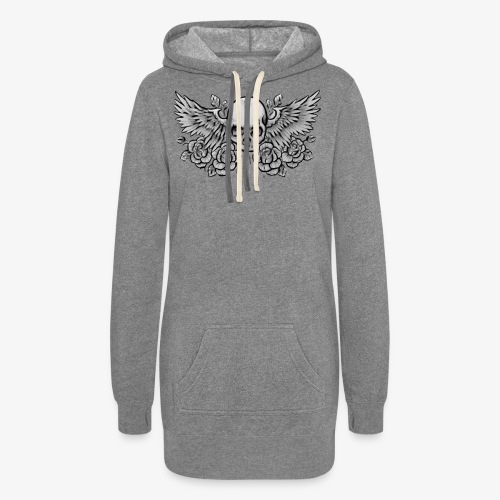 Ladies Winged-Skull Hoodie Dress - Women's Hoodie Dress