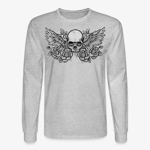 Men's L/S Winged-Skull Tee - Men's Long Sleeve T-Shirt