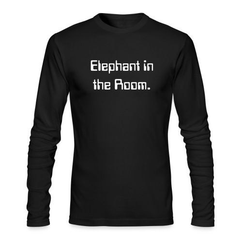 Elephant in the Room. Long Tee - Men's Long Sleeve T-Shirt by Next Level