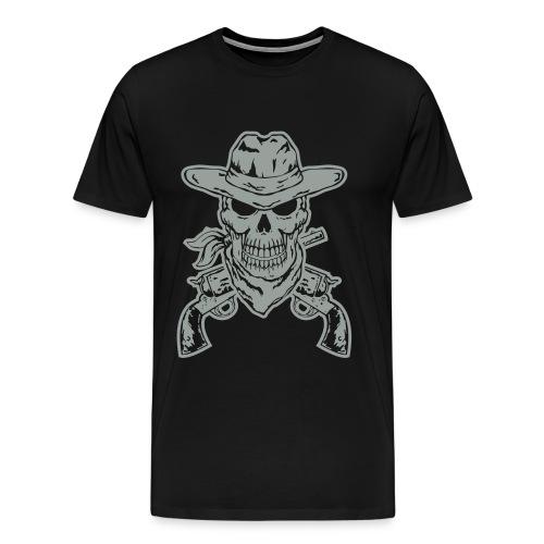 skull cowboy t-shirt - Men's Premium T-Shirt