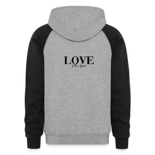 LOVE IS THE ANSWER - Colorblock Hoodie