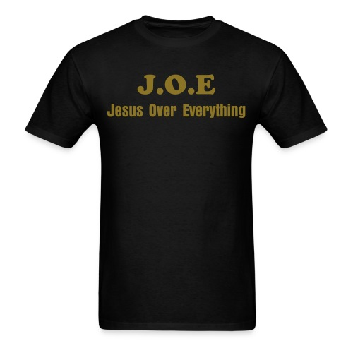 Not Your Average J.O.E. (Jesus Over Everything) - Men's T-Shirt