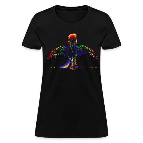 Rainbow splash women's black - Women's T-Shirt