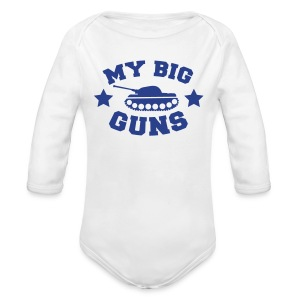 My Big Guns - Long Sleeve Baby Bodysuit