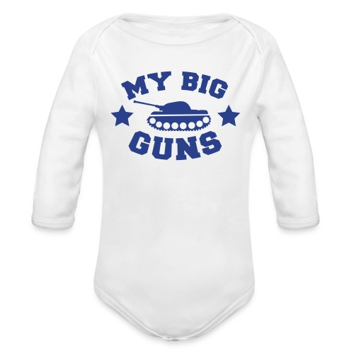 My Big Guns - Organic Long Sleeve Baby Bodysuit