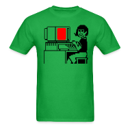 T-Shirts ~ Men's T-Shirt ~ Happy computer