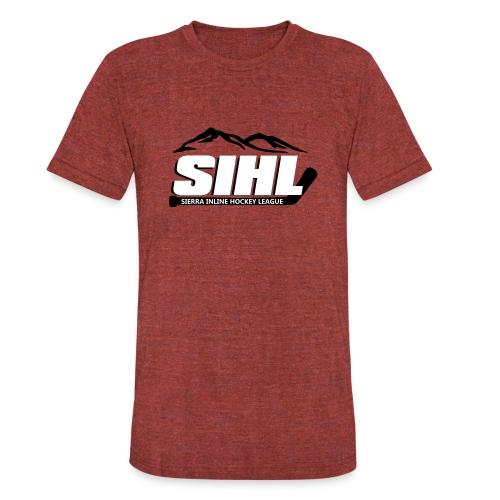 SIHL Tri-Blend T-Shirt Cranberry w BW Logo - Unisex Tri-Blend T-Shirt