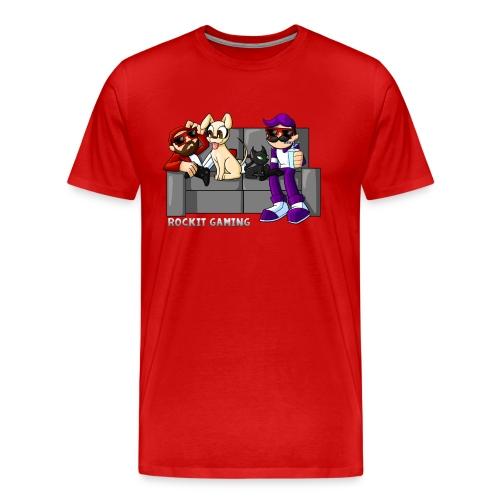 Men's Couch Party Shirt White Text - Men's Premium T-Shirt