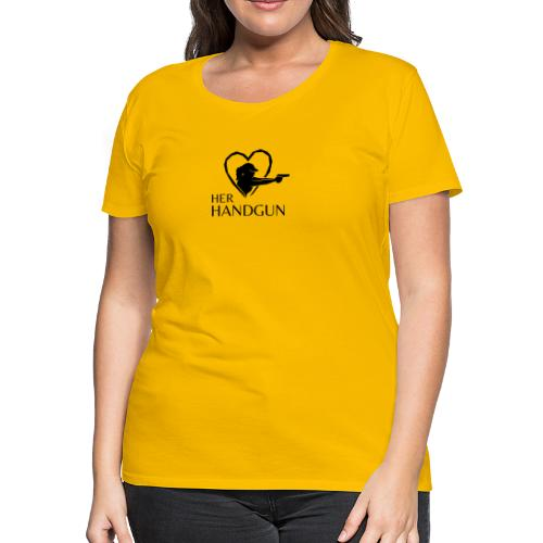 Women's Premium T-Shirt with Black Logo (front only) - Women's Premium T-Shirt