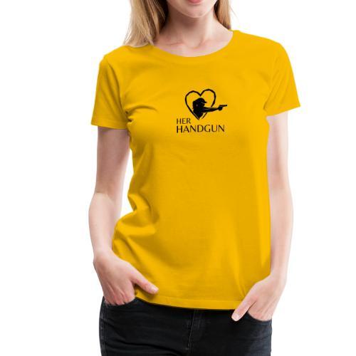 Women's Premium T-Shirt with Black Logo (front only) - Women's Premium T-Shirt