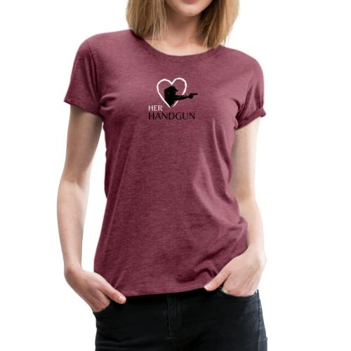 Women's Tri-Blend Tee with Black & White Logo (front only)  - Women's Premium T-Shirt