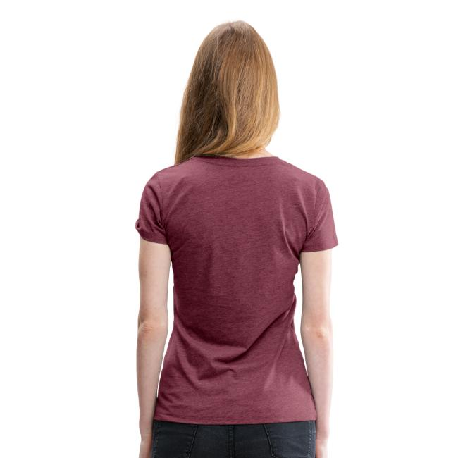 Women's Tri-Blend Tee with Black & White Logo (front only)