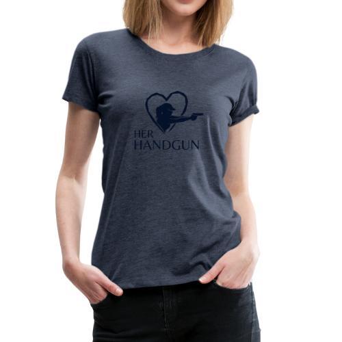 Women's Premium T-Shirt with SPARKLY BLACK Logo (front only) - Women's Premium T-Shirt