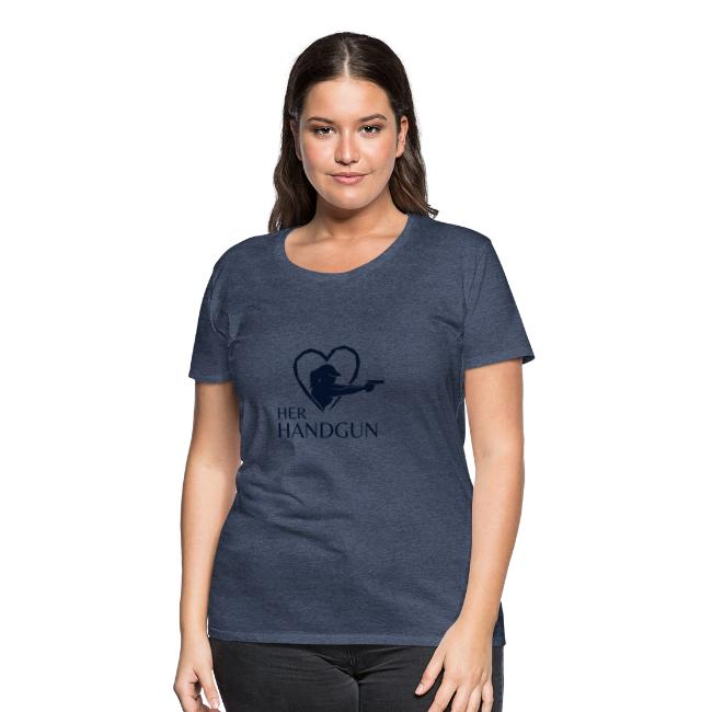 Women's Premium T-Shirt with SPARKLY BLACK Logo (front only)