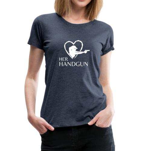 Women's Premium T-Shirt with WHITE Logo (front only) - Women's Premium T-Shirt