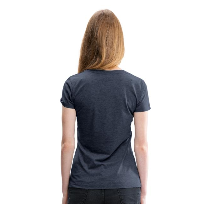 Women's Premium T-Shirt with WHITE Logo (front only)