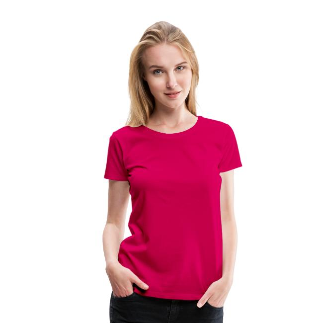 Women's Premium T-Shirt with WHITE Logo (back only)