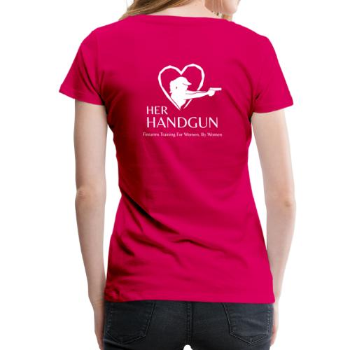 Women's Premium T-Shirt with WHITE Logo (back only) - Women's Premium T-Shirt