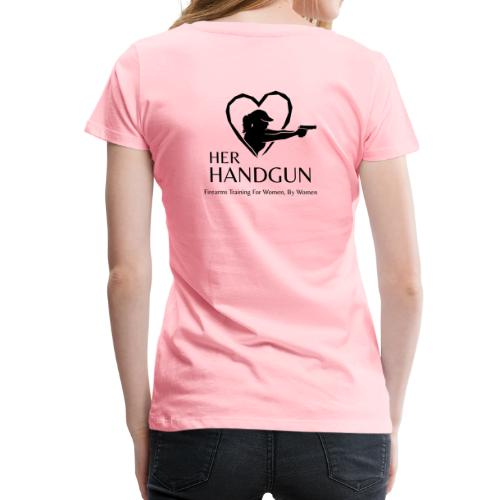 Women's Premium T-Shirt with BLACK Logo (back only) - Women's Premium T-Shirt