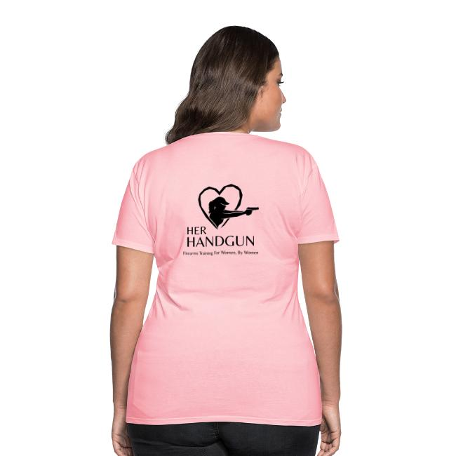 Women's Premium T-Shirt with BLACK Logo (back only)