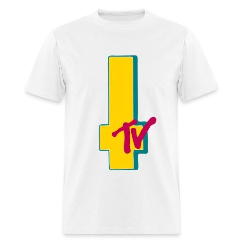 MTV Cross Wht 2 - Men's T-Shirt