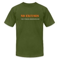 T-Shirts ~ Men's T-Shirt by American Apparel ~ Men's Short Sleeve - No Excuses