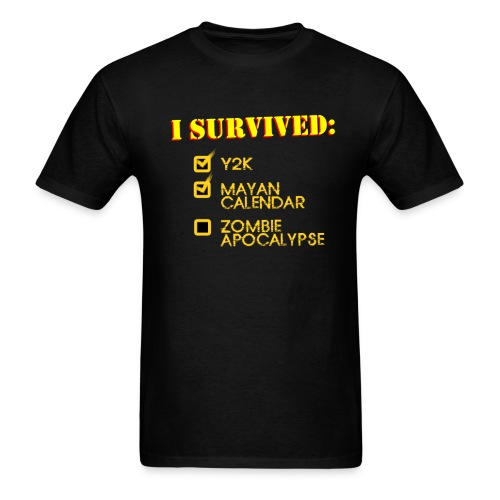 I Survived Y2K, Mayan, Zombie Apocalypse - Men's T-Shirt