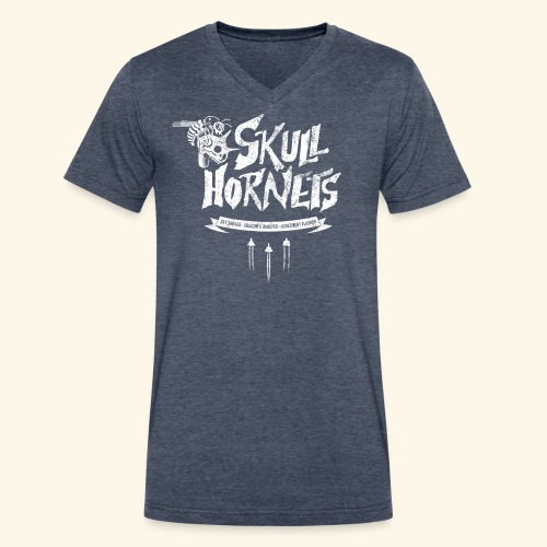 Skull Hornets - Men's V-Neck T-Shirt by Canvas