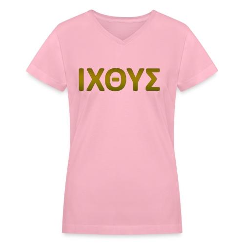 ICHTUS - Women's V-Neck T-Shirt